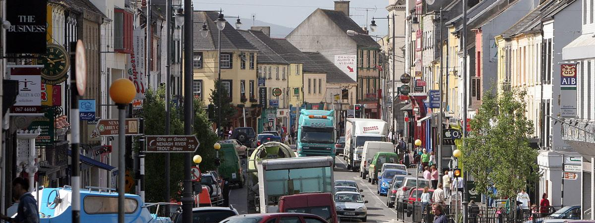 Towns and Cities Near Nenagh (Tipperary) - Within 50 Miles