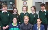 Paralympian Peter Ryan with staff and students of Cashel Community School