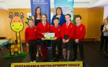 Ballina National School attending the Limerick Regional Final of the Our World Irish Aid Awards