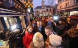 Taoiseach Varadkar visits Clonmel to boost general election campaign of Fine Gael candidates Mayor of Clonmel Cllr.Garret Ahearn and Mary Newman