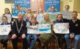 Cashel Lions Club Peace Poster art competition in the Parish Centre