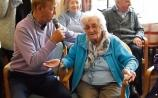 Dickie Rock is a big hit at Carrick-on-Suir nursing home