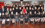 Medals ceremony for Coláiste Phobal Roscrea Junior Team in the Racket Hall hotel