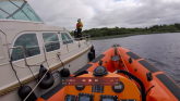 Tipperary RNLI assists four people on cruiser hit by fuel problem on Lough Derg