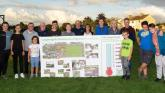 Residents and committee members at Loughtagalla park