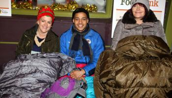 Volunteers brave torrential rain during sleep out to raise funds for Tipperary people in need