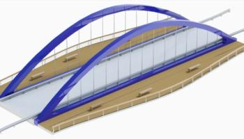An artists impression of the proposed bridge over the River Suir in Thurles
