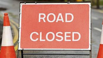Road closure at R445, Carrig, Roscrea