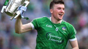 Archbishop Kieran O'Reilly congratulates the Limerick hurlers and admires their spirit