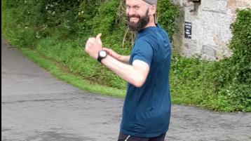 Tipperary teacher's mad cap '496' km run for C-SAW Suicide Awareness Service