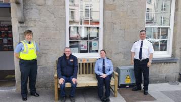 Launch of the Garda 'chatting' bench in Roscrea