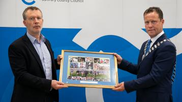 Highest civic honour accorded to Tipperary senior footballers