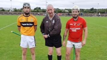 Joe Fitzgerald (Kickhams), John O' Grady (Referee), Tony Hewitt (Cashel)
