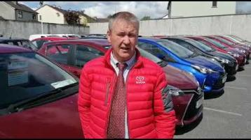 WATCH: Excitement at Toyota dealer John Kennedy Motors Clonmel as showroom reopens to public