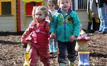 Patrick Cullagh (5) and his sister Eleanor (2) from Tipperary wowed judges on the wellie walk with her megawatt smiles.