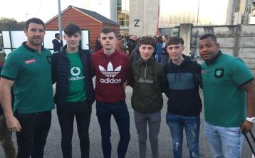 Tipperary students meet French rugby stars