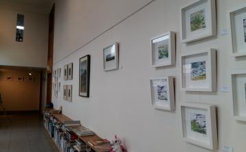 Roscrea artist exhibits latest work in Abbeyleix Library Gallery