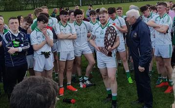 Liam Cleary converts late '45 to win the North Tipperary U21A football championship title for Borrisokane