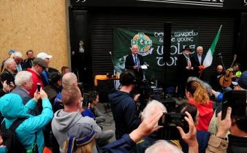 GALLERY: Hundreds of Tipperary fans gather for Sean Treacy commemoration on Talbot St before Tipperary V Kilkenny All Ireland Hurling Final