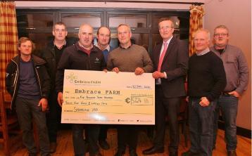 Shinrone Tractor Run cheque presentation to Embrace FARM