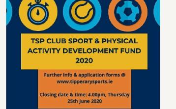 Funding available for Tipperary sports clubs