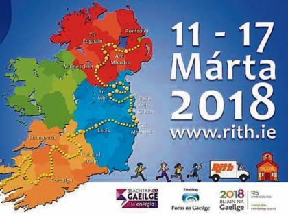 Map Of Ireland As Gaeilge.Irish Language Run Rith 2018 Comes To Tipperary