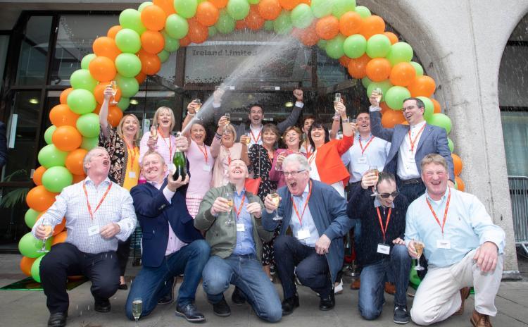 WATCH: Great excitement as Thurles Euromillion winners celebrate in style at Lotto HQ