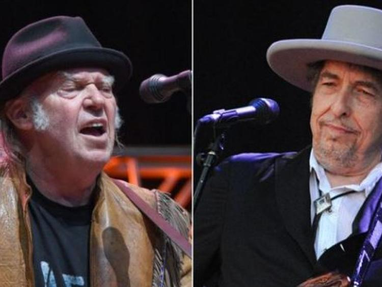 Bob Dylan and Neil Young announce Irish show