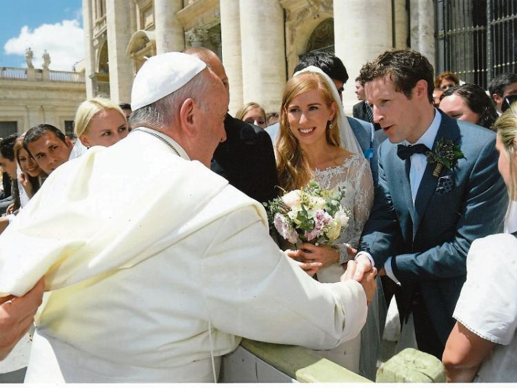 Popes Blessing For Tipp Newlyweds