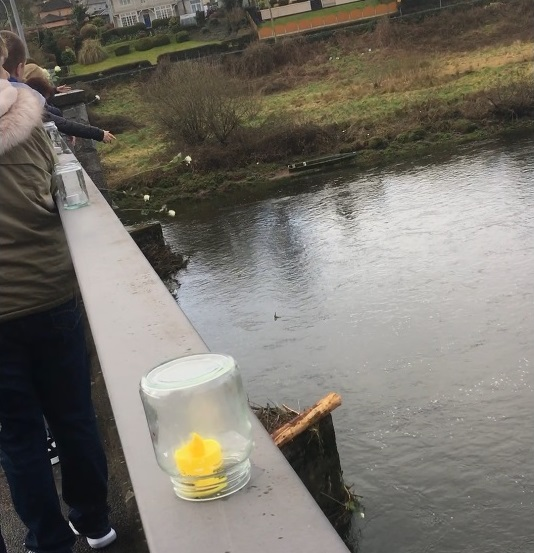 flowers were thrown into the river suir